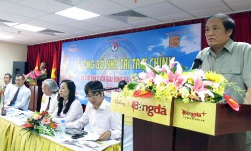 Chủ tịch LĐBĐVN Nguyễn Trọng Hỷ phát biểu tại buổi lễ